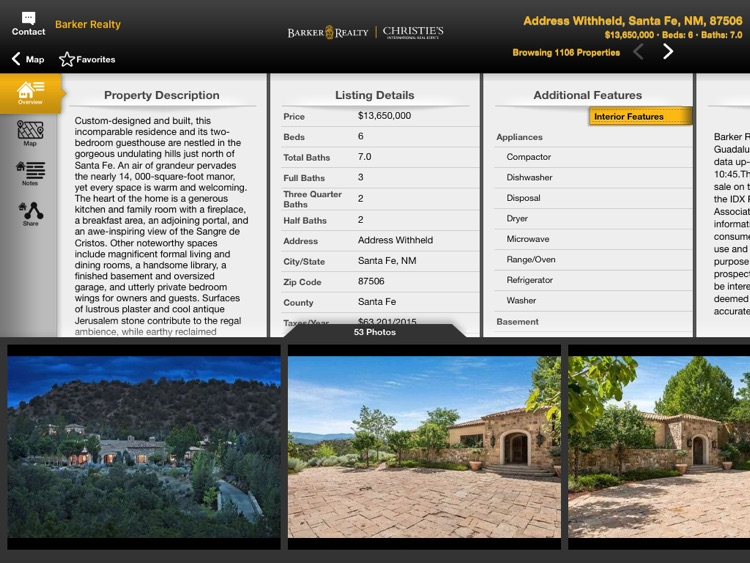 Santa Fe Real Estate Mobile for iPad screenshot-3