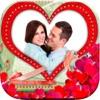 浪漫爱情贴纸相框相机(情人节约会婚礼纪念日表白贺卡片)