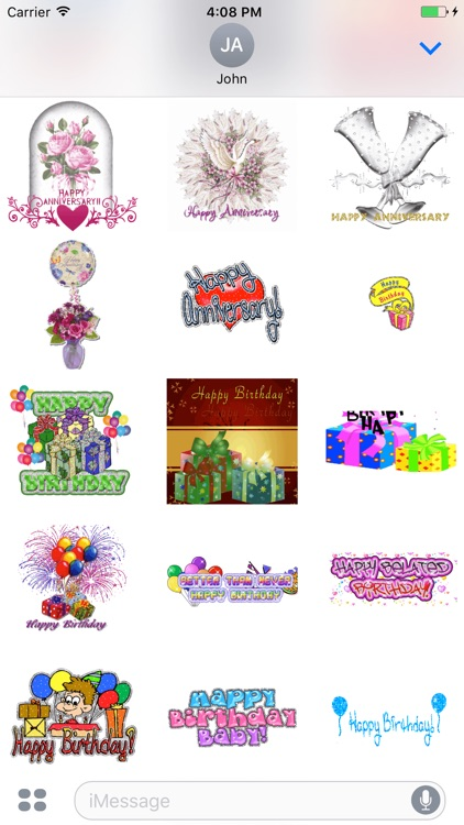 animated anniversary happy birthday gif stickers