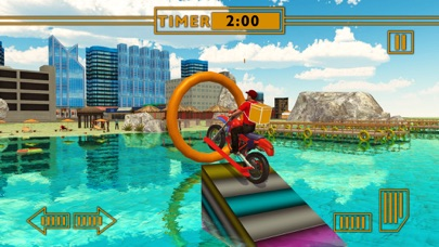 Water Surfer Fast Food Bike Delivery & 3D Sim