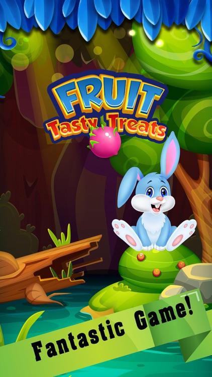 Tasty treats fruit on match 3 game