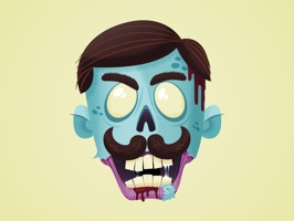 Hipster Zombie Stickers