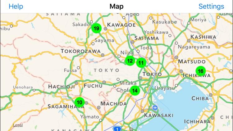 Radiation Map Tracker displays worldwide radiation