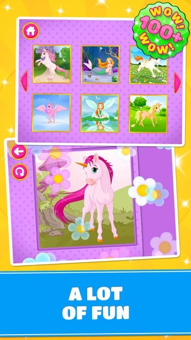 Cute Ponies & Unicorns Puzzles : Logic Game screenshot four