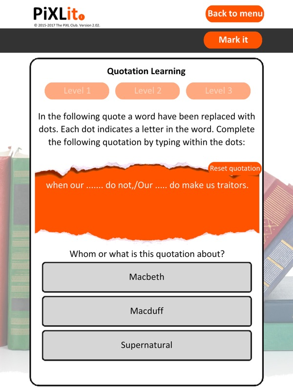 PiXL English Literature App - Online Game Hack and Cheat
