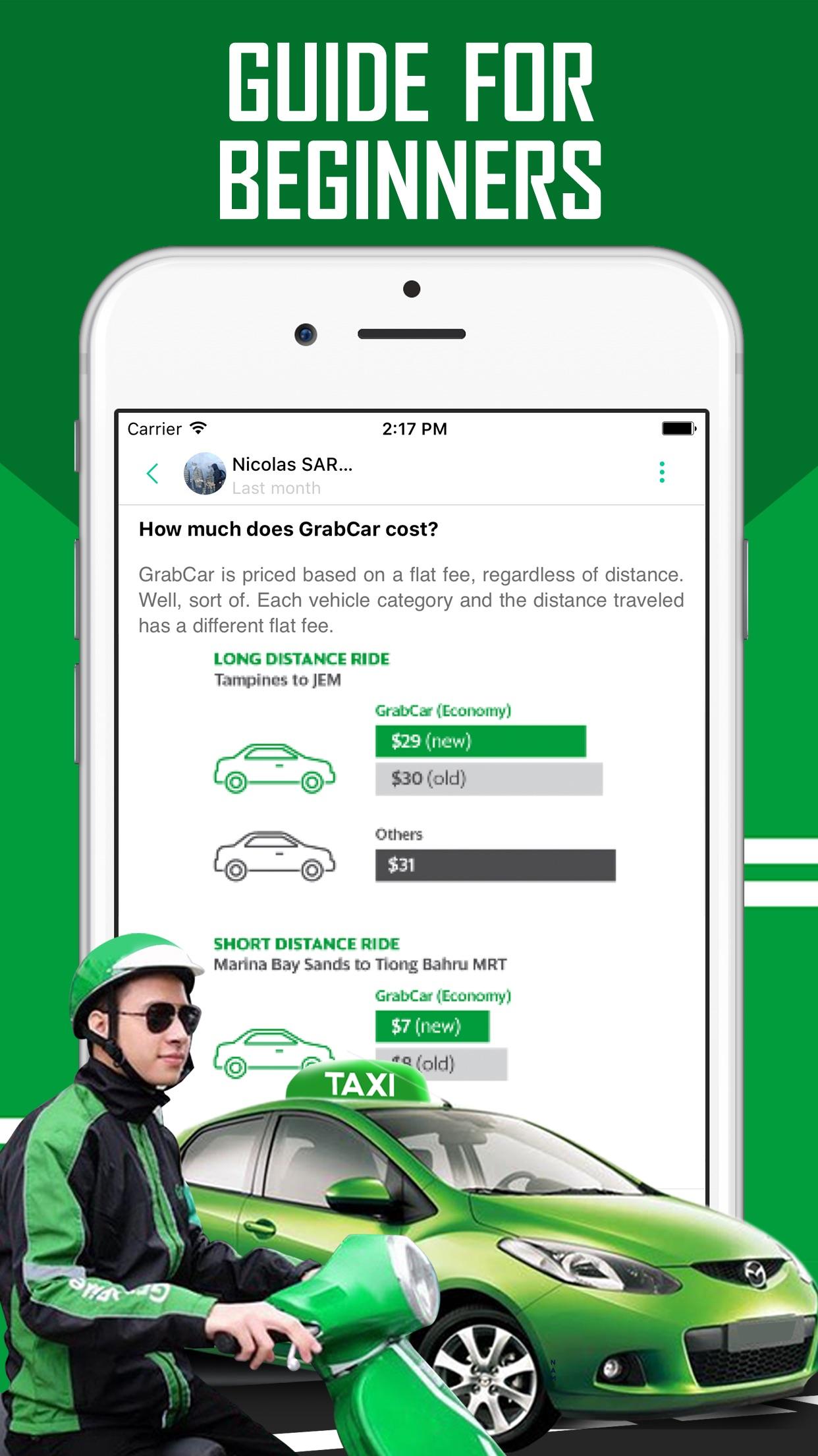 Guide for Grab - Car, Taxi, Bike Booking App Screenshot