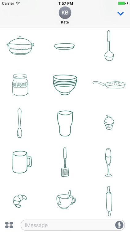 Animated Cute Kitchen Stickers screenshot-3