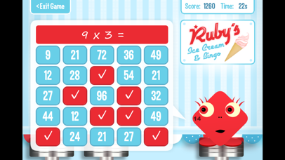 Squeebles Maths Bingo screenshot two