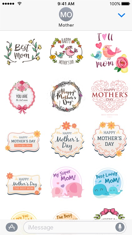 2017 Mothers Day Stickers