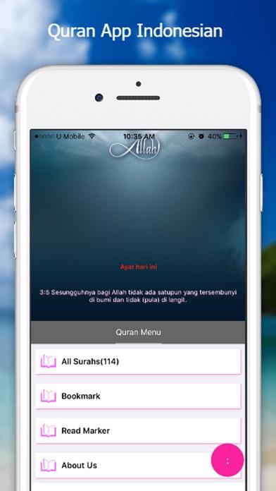 Quran App - Indonesian screenshot one