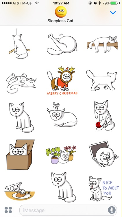 Sleepless Cat Stickers screenshot-3