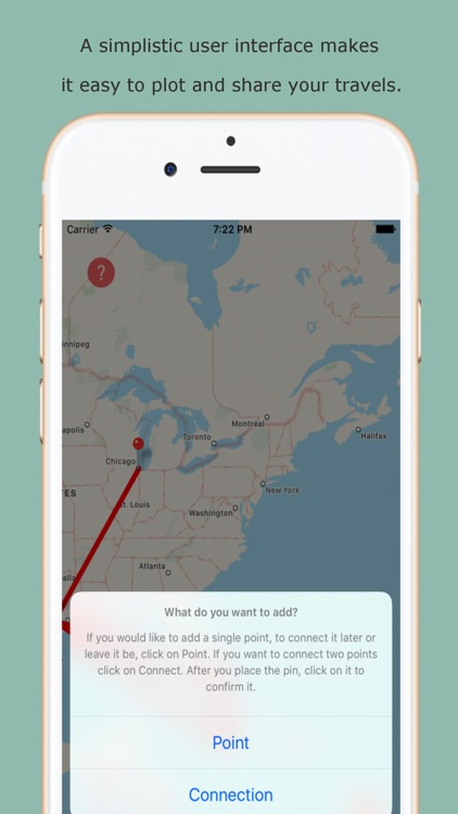 Traveli - A Portable Push Pin Map for your Travels