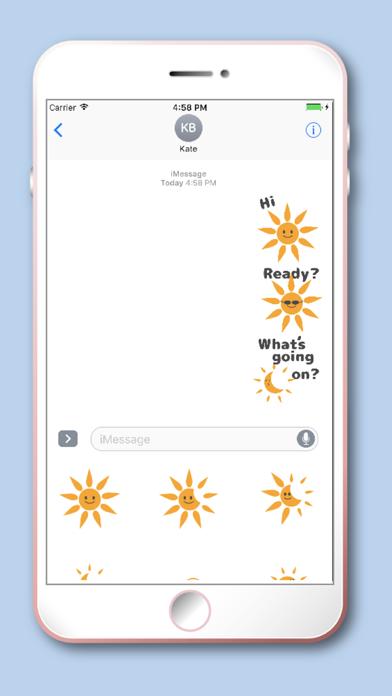 Solar Eclipse Cute Sun Emoji screenshot three