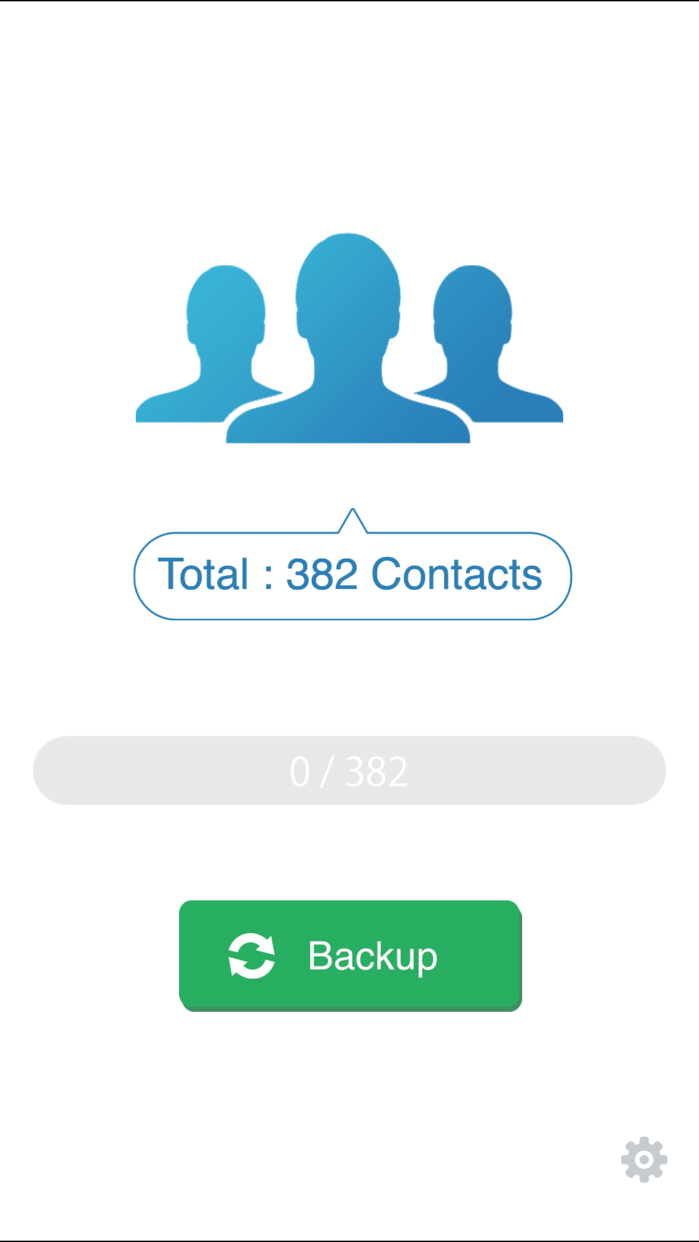 My Contacts Backup Screenshot