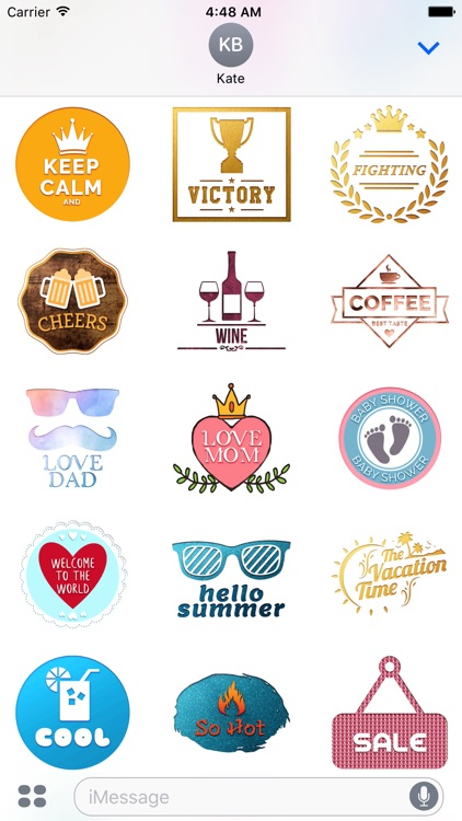Engraving - Animated Chat Badge Stickers screenshot-4