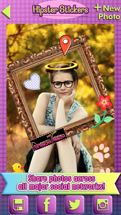 Hipster Photo Stickers: Cool Selfie Picture Editor screenshot-4