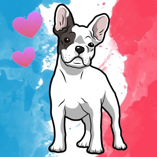 Frenchie - French Bulldog emoji stickers iOS App