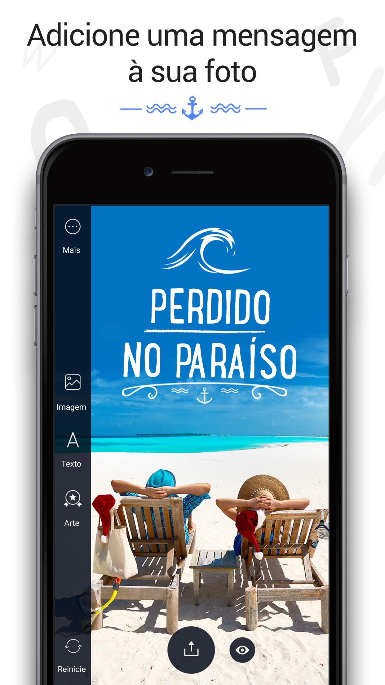 Screenshot do app Fontmania - Escreva em Fotos