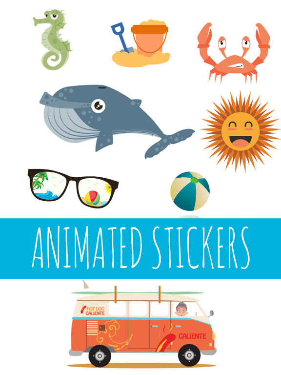 Hot Summer Animated Stickers | App Price Drops