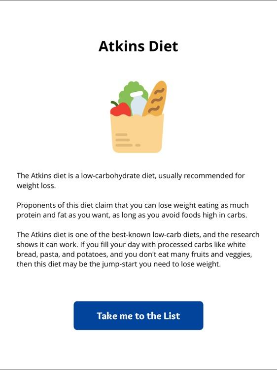 Atkins Diet Grocery List - Perfect Diet Food List
