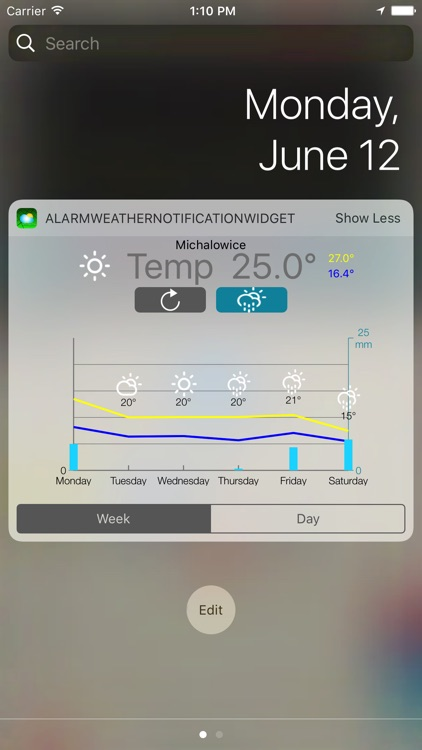 Alarm Weather Widget