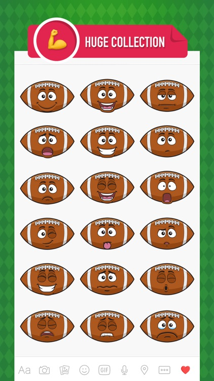 FootballMoji - football emoji & stickers keyboard screenshot-1