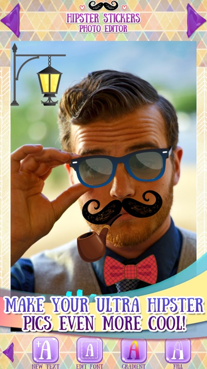 Hipster Stickers for Pictures screenshot-3