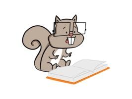 Happy Squirrel stickers by Hazal