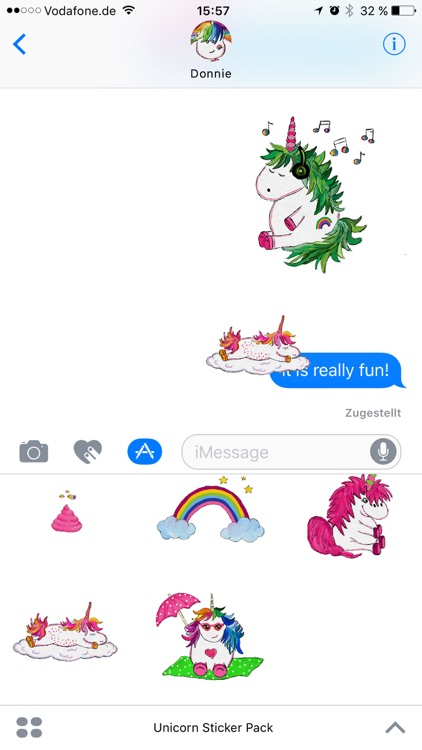 Hand Drawn Unicorns Sticker Pack