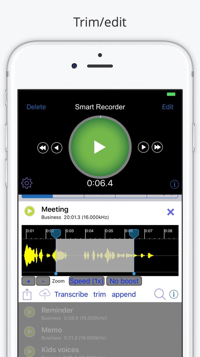 Smart Recorder and Transcriber - All Features Screenshot
