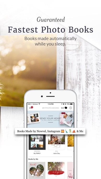 Fast Photo Book Printing & Video Sharing by Nowvel