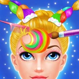 Rainbow Makeup Me Hair Salon