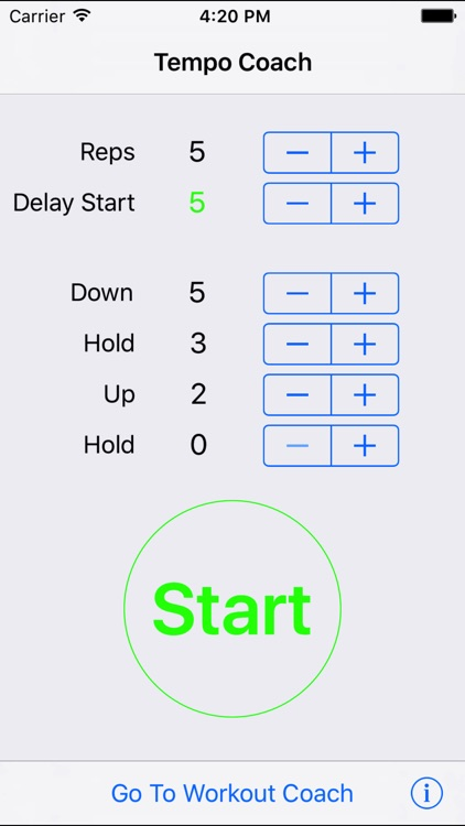 Tempo Coach - Weightlifting Tool to Control Speed