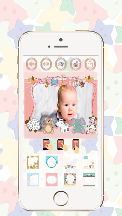Baby photo frames edit and create beautiful cards screenshot four