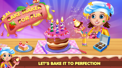 Real Cake Maker For Fun screenshot one