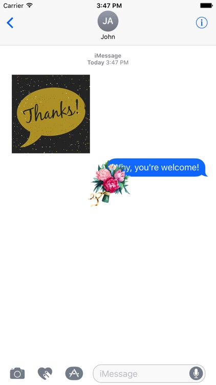 Thank You From the Heart Flowers & Drinks Stickers screenshot-3