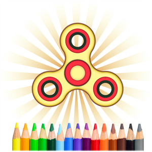 Fidget Spinner Coloring Book app