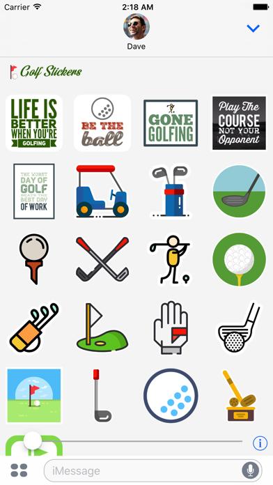 Golf Sticker for iMessage screenshot four
