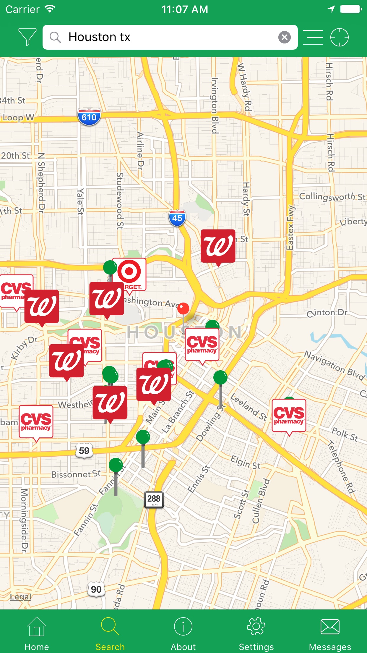 Allpoint® - Global Surcharge-Free ATM Locator Screenshot