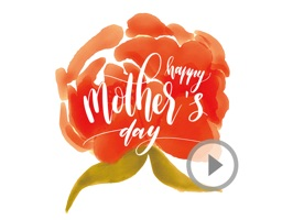 Animated Watercolor Mother's Day Stickers