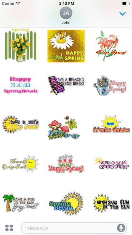 Animated Summer & Spring & Winter GIF Stickers