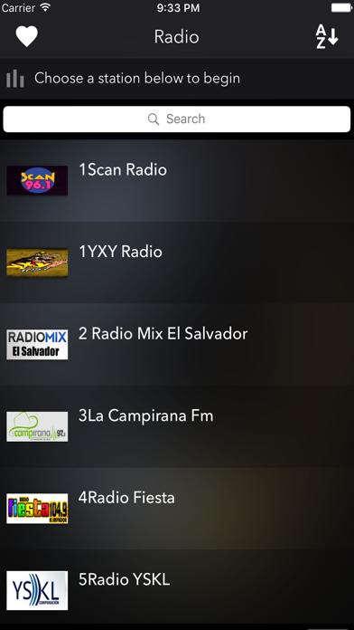 El Salvador Radios Live screenshot two
