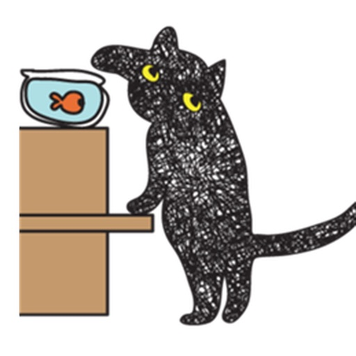 Twinkling Black Cat Sticker