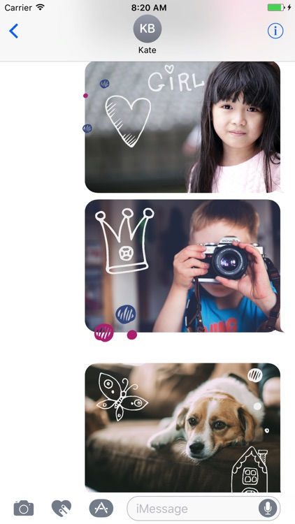 Animated Cute Children Stickers