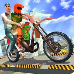 Xtreme Rooftop Bmx Bike Rider