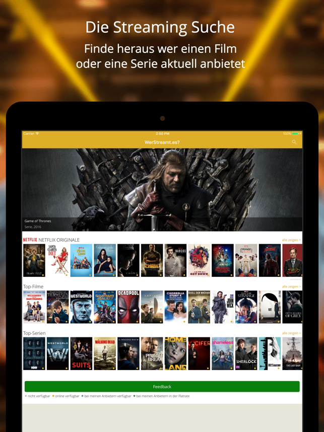 WerStreamt.es? Filme & Serien Screenshot