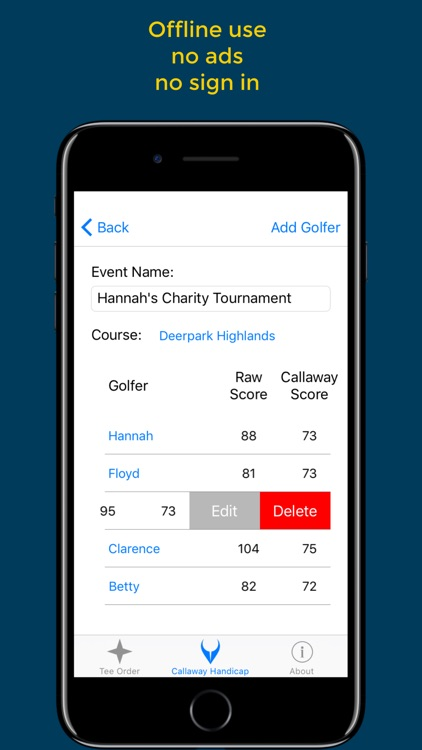 Cruncher: Callaway Scoring Calculator