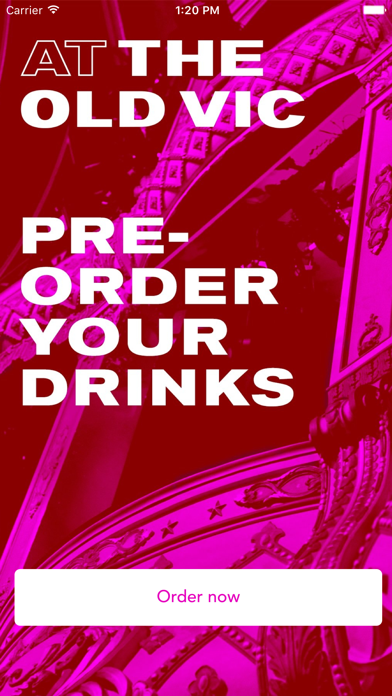 The Old Vic Drinks App screenshot one