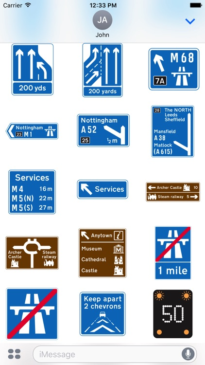 200 UK Highway & Traffic Signs Stickers screenshot-3