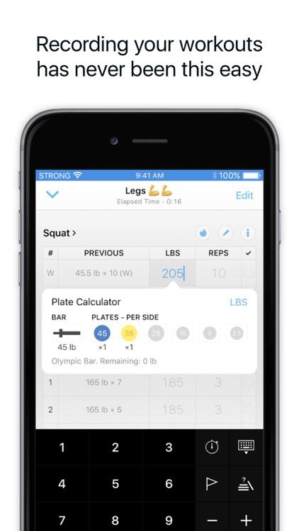 Strong Workout Tracker: Gym Log, Exercise Journal screenshot-0